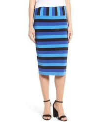 Halogen - Stripe Pencil Skirt (petite) - Lyst