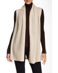 In Cashmere - Open Front Cashmere Vest - Lyst