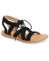 Hinge - 'ella' Lace-up Sandal - Lyst