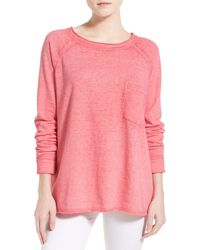 Stem - Burnout Raw Edge Sweatshirt - Lyst