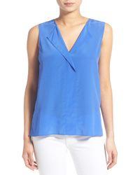 Trouvé - V-neck Sleeveless Silk Top - Lyst