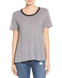 Stem - Striped High/low Tee - Lyst
