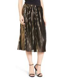 Trouvé - Shine Pleat Midi Skirt - Lyst