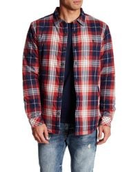 Jack O'neill - Crowne Faux Shearling Lined Plaid Flannel Regular Fit Shirt - Lyst