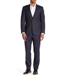 Spurr By Simon Spurr - Blue Birdseye Two Button Notch Lapel Wool Suit - Lyst