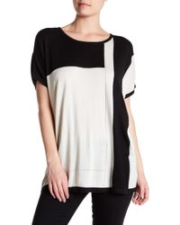 In Cashmere - Oversized Colorblock Silk Blend Pullover - Lyst