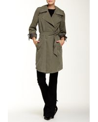 Laundry by Shelli Segal - Belted Trench Coat - Lyst