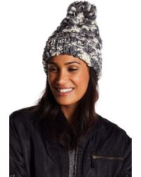 Rampage - Chunky Cable Knit Beanie - Lyst