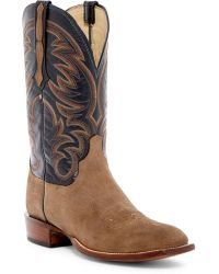 Lucchese - Genuine Leather & Suede Cowboy Boots - Lyst