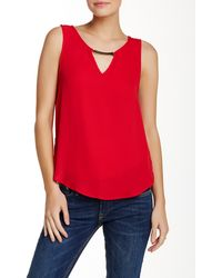 Lily White - Sleeveless Bar Front Blouse - Lyst