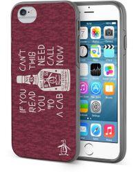 Original Penguin - Burgundy/cream Can't Read This Iphone 6/6s Case - Lyst