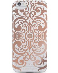 Nanette Lepore - Rose Gold/white Metallic Lace Iphone 6/6s Case - Lyst