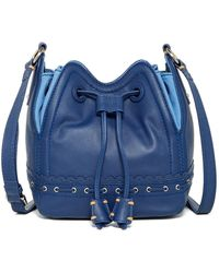 Isabella Fiore - Lotus Leather Drawstring Bag - Lyst
