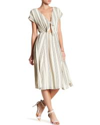 June & Hudson - Cutout Stripe Dress - Lyst