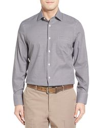 John W. Nordstrom - Nordstrom Men's Shop No-iron Crepe Check Sport Shirt - Lyst