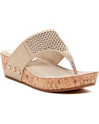 Ellen Tracy - Ithaka Platform Wedge Thong Sandal - Lyst