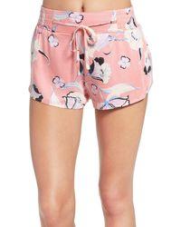 MINKPINK - 'field Of Dreams' Print Pajama Shorts - Lyst