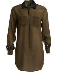 Izzue - Lace Trim Shirt - Lyst