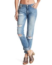 Band Of Gypsies - Emme Destroyed Straight Leg Tomboy Jean - Lyst