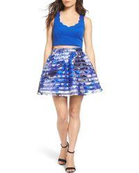 Dear Moon | Colorblock Two-piece Dress | Lyst