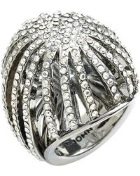 St. John - Swarovski Crystal Cocktail Ring - Lyst