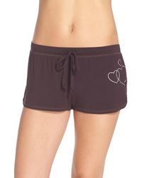 Junk Food - Heart Graphic Lounge Shorts - Lyst