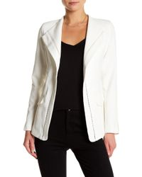 Ark & Co. - Embroidered Grid Trim Jacket - Lyst
