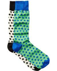 Jared Lang - Fuzzy Polka Dot Crew Socks - Pack Of 2 - Lyst