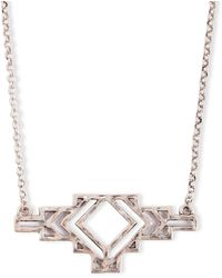 Lucky Brand - Openwork Pendant Necklace - Lyst