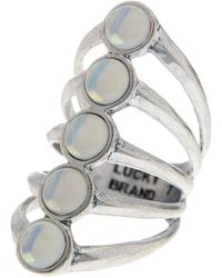 Lucky Brand - Moonstone Ladder Ring - Size 7 - Lyst