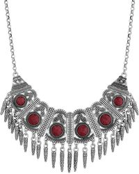 Lucky Brand - Red Jade Collar Necklace - Lyst