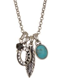 Lucky Brand - Mini Charm Necklace - Lyst