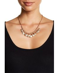 Lucky Brand - Rose Gold Turquoise Necklace - Lyst