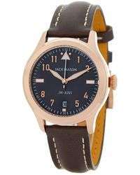 Jack Mason Brand - Women's Aviation Leather Strap Watch - Lyst