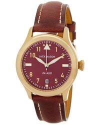 Jack Mason Brand - Women's Aviation Leather Strap Watch - Lyst