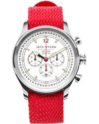 Jack Mason Brand - Men's Brand Nautical Woven Strap 42mm Watch - Lyst