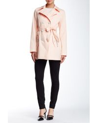 Jessica Simpson - Double Breasted Trench Coat - Lyst