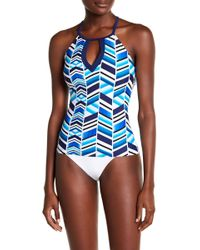 Jantzen & Jag Swimwear - Fragments Print Tankini Top - Lyst