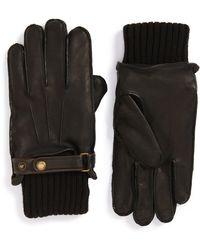 John W. Nordstrom - Knit Cuff Leather Gloves - Lyst
