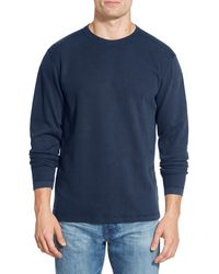 Agave - 'silas' Long Sleeve Ribbed Crewneck T-shirt - Lyst