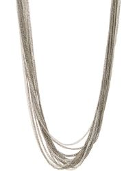 Kenneth Cole - Long Multi Strand Chain Necklace - Lyst
