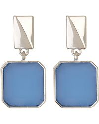 Kenneth Cole - Square Stone Drop Earrings - Lyst