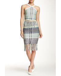Wow Couture - 2-piece Fringed Tank & Skirt Set - Lyst