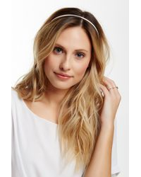 Cara - Faux Leather & Chain Headband - Lyst