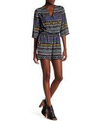 Kut From The Kloth - Julie Wrap Romper - Lyst