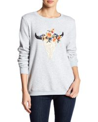 Peach Love California - Crew Neck Long Sleeve Graphic Pullover - Lyst