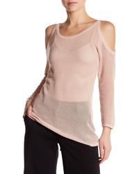 Laundry by Shelli Segal - Cold Shoulder Open Stitch Sweater - Lyst