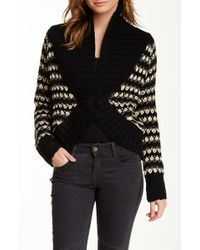Lavand - Shawl Collar Chunky Knit Sweater - Lyst