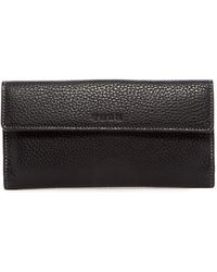 Tusk - Flapover Leather Clutch Wallet - Lyst