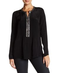 Plenty by Tracy Reese - Embellished Kurta Long Sleeve Tunic - Lyst